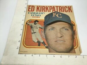 1970 Topps Pin-Ups Poster #19 of 24; ED KIRKPATRICK kansas city royals outfield