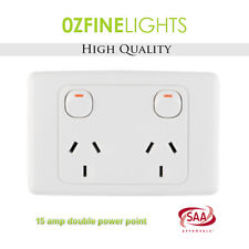 15 AMP Double Power Point Electrical GPO Socket SAA APPROVED