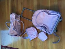 3 Piece Little Girls Luggage set-Pink/Purple