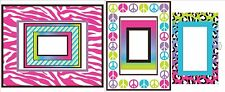 ANIMAL PRINT FRAMES Wall Decals Room Decor Stickers Peace Zebra Picture CHEETAH