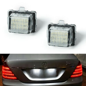 Canbus LED Numbers License Plate Light Bulbs For Mercedes Benz W204 W212 W221 2X