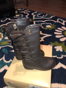 Michael Kors Emma Venon-T-888 Size 7 Riding Boots Brown. Horse 🐎