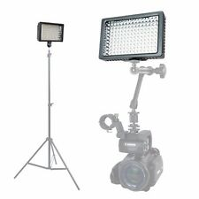 Dimmable 160 LED Panel Light+3 Filters+Case f/ Camera Camcorder 4K Video Wedding