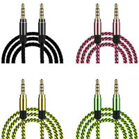 1.5/3M Braided Male to Male Aux 3.5mm Jack StereoAudio Cable For CellPhoneTablet