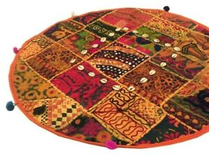 """24"""" ORANGE PATCHWORK BANJARA HOME DÉCOR THROW ACCENT BED CUSHION PILLOW COVER"""