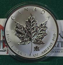 2004 CANADA $5 Privy Mark Silver Maple Leaf 1 oz Reverse proof 99.99% silver