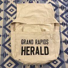 Vintage Grand Rapids Herald Paperboy Canvas Newspaper Delivery Bag Old Stock