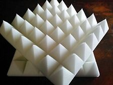 """Ivory Acoustic Foam (12 Pack Kit) - Pyramid 2"""" 24"""" X 24"""" Covers 48sq Ft -"""
