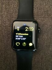 Apple Watch Series 2 42mm Stainless Steel with Black Sport Band