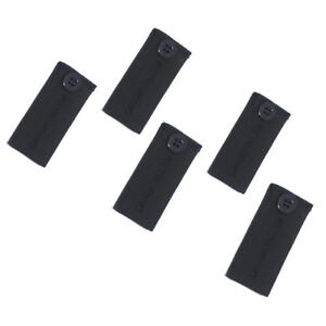 Adjustable Pant Waistband Extension (Button 5-Pack, Black)