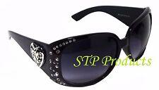 CE Women's Fashion Plastic Frame Sunglasses with Rhinestones 100% UV Protection