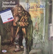 IAN ANDERSON Signed JETHRO TULL AQUALUNG Album by 4 DEE, Martin, CLIVE PSA DNA