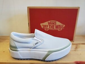 Vans Classic Slip-on Stacked Pastel Baby Blue Lifestyle Shoes for Women