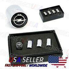 Opel Valve Caps Stems Covers Silver Chromed Roundel Logo Emblem Tire Tyre USA
