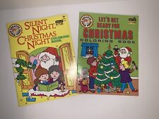 Vintage Creative Child Press Christmas Coloring Books Unused, Great Condition!!