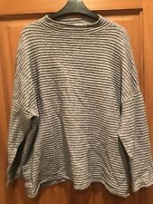Ladies Stunning Thick Jumper Top By Tu, Size 20 In Grey, High Neck, Stylish