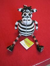 Zebra Shelf Sitter, Beadworx by Grass Roots Creations, New with Tags
