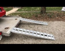 GEN-Y R96 Truck Trailer Car Ramps 8' Aluminum 10K Capacity with Hook Ends