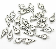 12pcs Tibetan Silver  ICE CREAM Charm Pendant Bead Jewellery Making 18*8mm