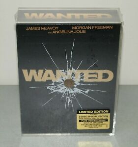 """New!! Sealed!! """"WANTED"""" (Limited Edition Collectors DVD Gift Set) Angelina Jolie"""