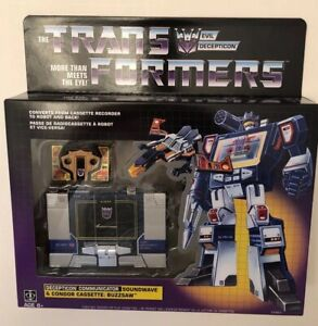 Transformers Soundwave G1 Walmart Exclusive Reissue Buzzsaw Cassette Sealed NEW