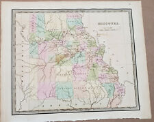 New ListingMap of the State of Missouri by Greenleaf 1840