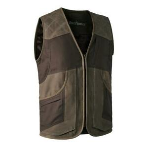 Deerhunter Marseille Leather Mix Waistcoat - Walnut