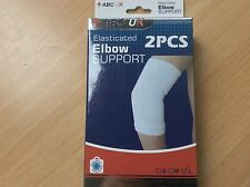 Elbow Support, 2 Pieces, Elasticated, Sport, Gym, Injury, Bandage, free post!