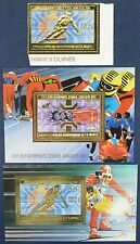 385/SPACE RAUMFAHRT 1983 Guinea Olympics Sarajewo Gold 971 + Bl.78-79 A Perf **