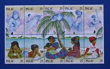 Palau (#220) 1989 Literacy Mnh block of 10