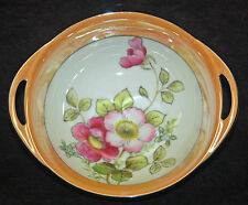 BEAUTIFUL NORITAKE LUSTER / LUSTRE BOWL - FLOWERS AND FOILAGE - MINT