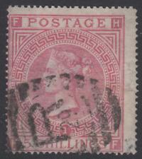 "QV GB SG126 5s Rose Plate 1 Maltese Cross Wmk. ""HF"" - Victorian surface printed"