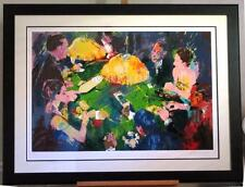 "Leroy Neiman ""Chemin De Fer"" S/N LE Framed Baccarat Gambling table Casino art"