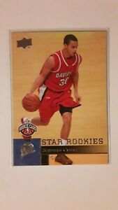 2009-10 upper deck stephen curry star rookie 234