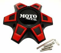Moto Metal Satin Black Wheel Center Hub Cap Bolt-On 6x5.5 6x139.7 6x135 MO969