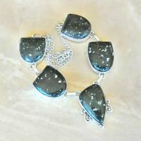 "Handmade Multi-Color Jasper Gemstone 925 Sterling Silver Necklace 15"" #N01852"