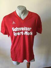 Maglia calcio le coq sportif schweizer sport mode football shirt maillot vintage
