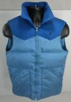 Browning Mens Puffer Vest Small Blue Full Zip Goose Down Insulated Vintage