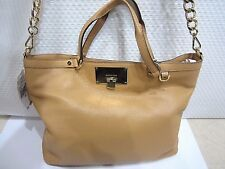 NWT Michael Kors CHANNING MD  SHLDR TOTE PEANUT PEBBLED LEATHER 38T5XCHE2L