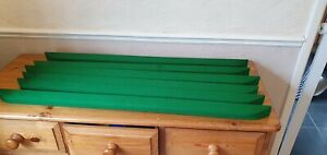 Superleague pool table cushions 7 foot covered in green 6811 cloth