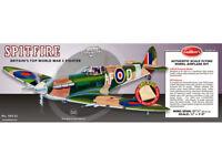 WW II Model Airplane British Supermarine Spitfire Balsa Wood Guillow's GUI-403