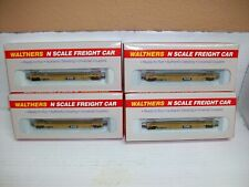 """N Scale Walthers 932-8051  Double Stack Car """"4 Cars Set TTX """""""