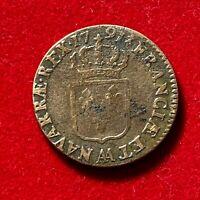 #2699 - RARE Louis XVI Sol 1791 AA Metz TTB - FACTURE