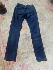 Raleigh Denim Workshop, Raw Denim, mid-rise, straight, size 25 waist 32 length