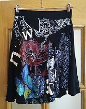 Falda de DESIGUAL talla S jupe skirt Rock mariposa butterfly butterflies