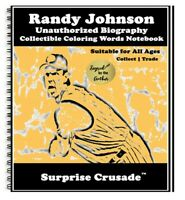 Randy Johnson Baseball Card Sports Trading Card Notebook AUTHOR AUTOGRAPH SET