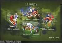 TOGO 2015 RUGBY  SHEET MINT NH