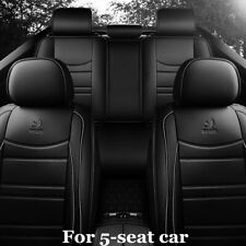 Luxury PU Leather Car Seat Cover Cushion 5D Full Surround Breathable Full Seat