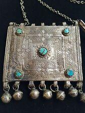 Rare Judaica Yemen Yemenite Filigree Silver Kabbalah Amulet Necklace