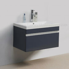 "Vanity Sink PICKUP IN LOS ANGELES 30"" GRAY modern bathroom cabinet wall hung"